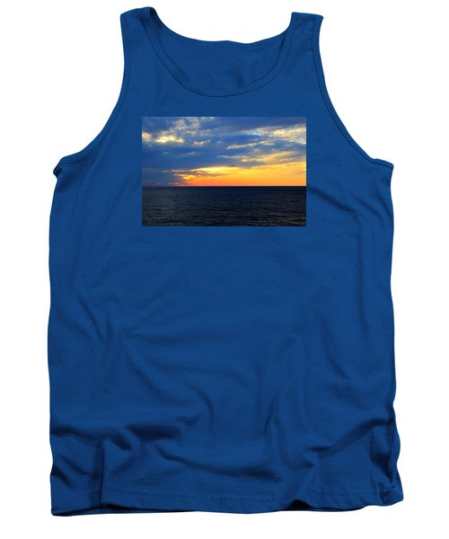 Tank Top featuring the photograph Sunset At Sail Away by Shelley Neff