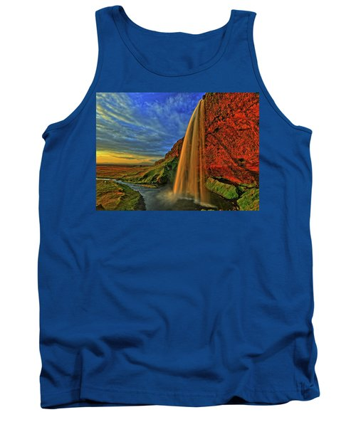 Tank Top featuring the photograph Sunset At The Falls by Scott Mahon