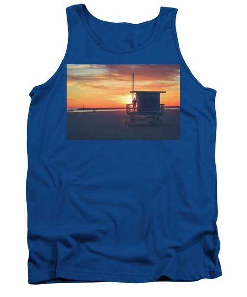 Sunset At Toes Beach Tank Top