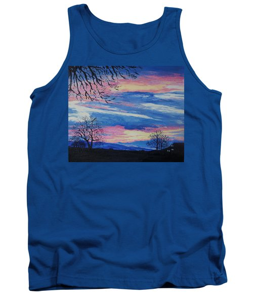 Sunset In The Country Tank Top by Lisa Rose Musselwhite