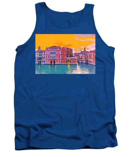 Sunset On The Grand Canal Venice Tank Top