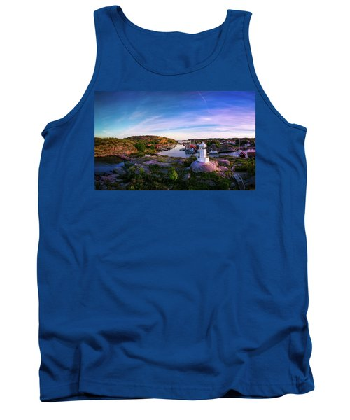 Sunset Over Old Fishing Port - Aerial Photography Tank Top