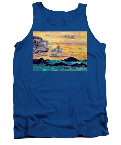 Sunset Over The Virgin Islands Tank Top