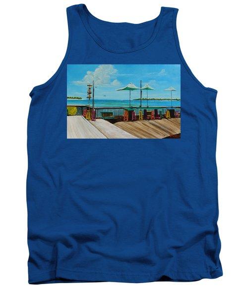Sunset Pier Tiki Bar - Key West Florida Tank Top