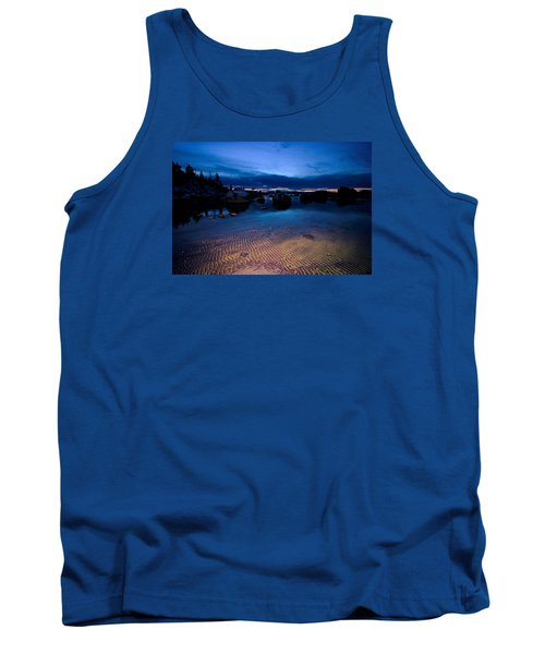 Sunset Sand Ripples Tank Top by Sean Sarsfield