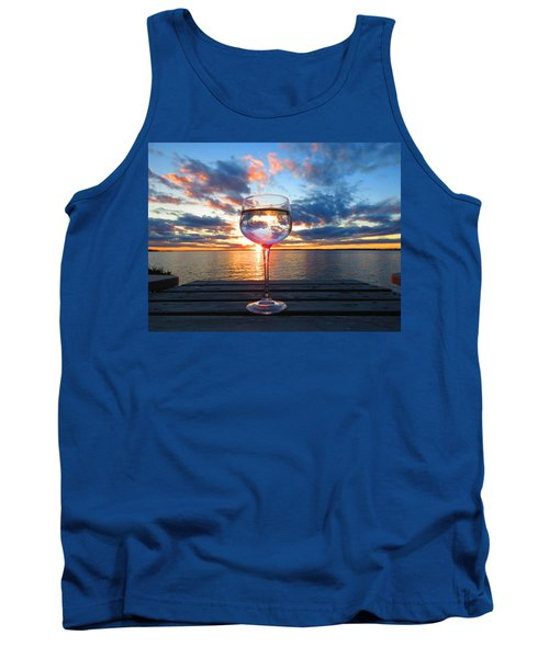 June Sunset On The River Tank Top