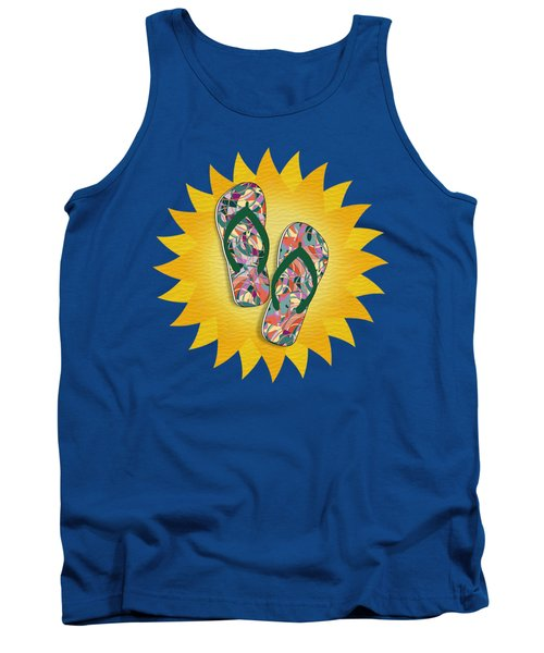 Sunshine And Colorful Abstract Flip-flops  Tank Top