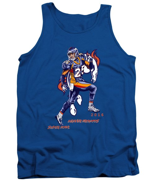 Tank Top featuring the drawing Super Bowl 2016  by Andrzej Szczerski