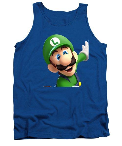Super Luigi Art Tank Top