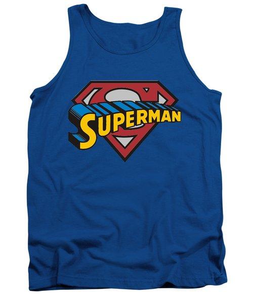 Superman T-shirt Tank Top by Herb Strobino