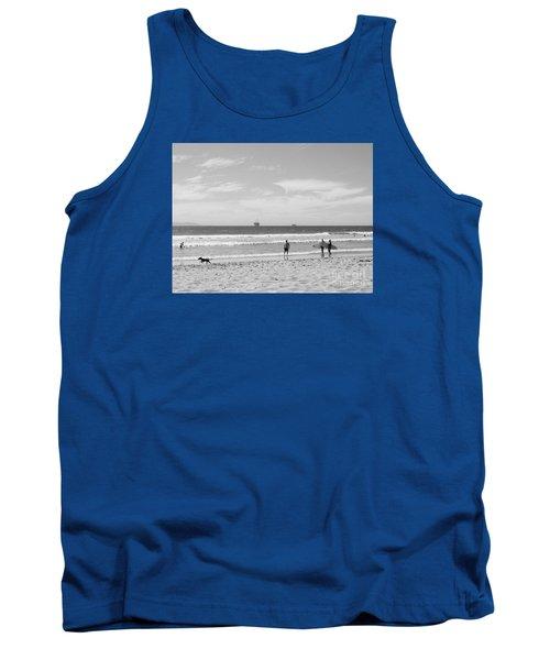 Strollin On Dog Beach Tank Top
