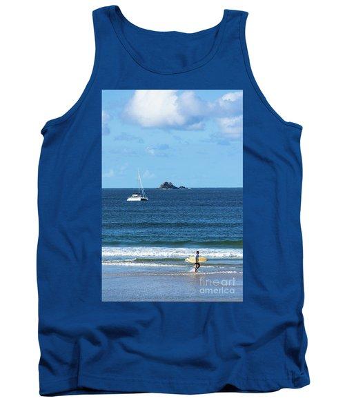 Surfer On Main Beach Tank Top