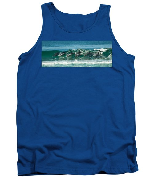 Surfing Dolphins 4 Tank Top