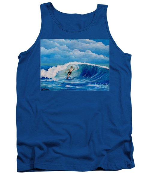 Surfing On The Waves Tank Top