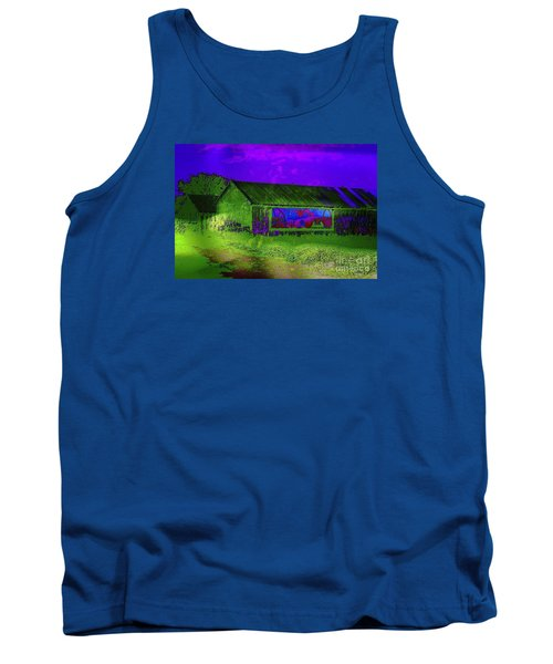 Surreal Barn Graffiti Tank Top by Dee Flouton