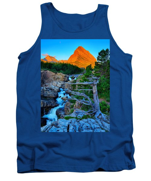 Tank Top featuring the photograph Swiftcurrent Falls by Greg Norrell