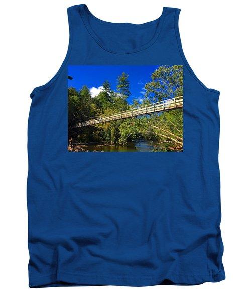 Toccoa River Swinging Bridge Tank Top