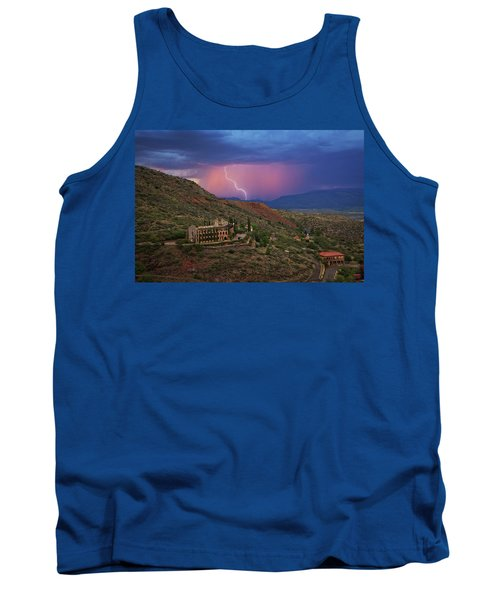 Tank Top featuring the photograph Sycamore Canyon Lightning With Little Daisy by Ron Chilston