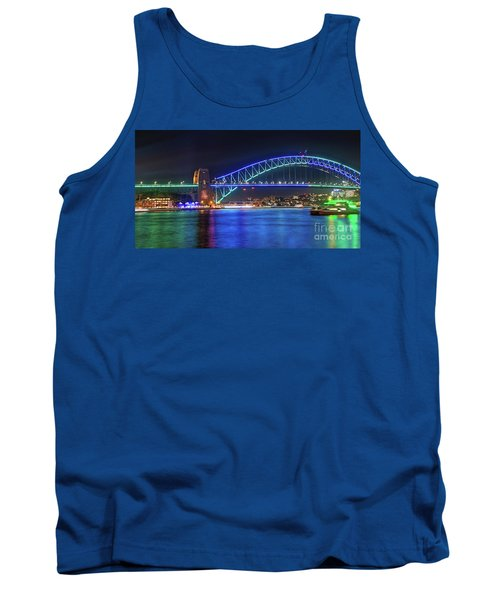 Sydney Harbour Green And Blue By Kaye Menner Tank Top