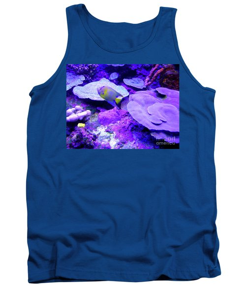 Tank Top featuring the photograph Ta Purple Coral And Fish by Francesca Mackenney
