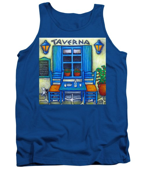 Table For Two In Greece Tank Top