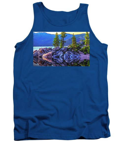 Tahoe Water Reflections Tank Top by Nancy Marie Ricketts