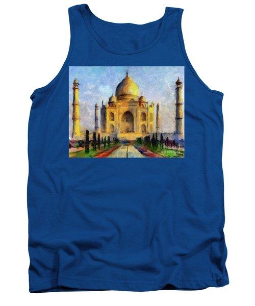 Taj Mahal Tank Top by Dragica Micki Fortuna