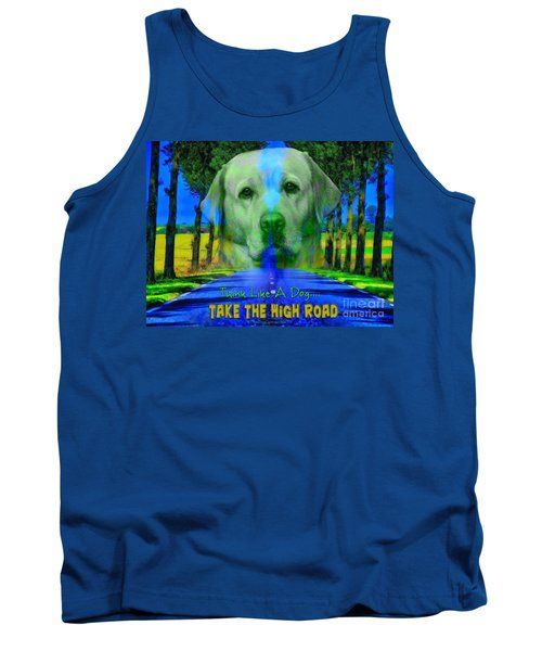 Tank Top featuring the digital art Take The High Road by Kathy Tarochione