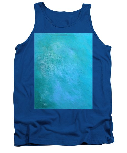 Tank Top featuring the painting Teal by Antonio Romero
