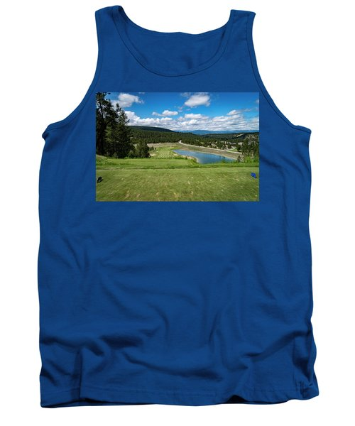 Tank Top featuring the photograph Tee Box With As View by Darcy Michaelchuk