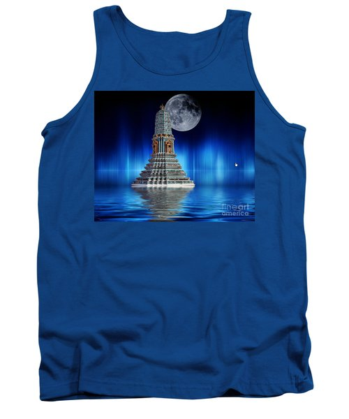Temple Of The Moon Tank Top by Shirley Mangini
