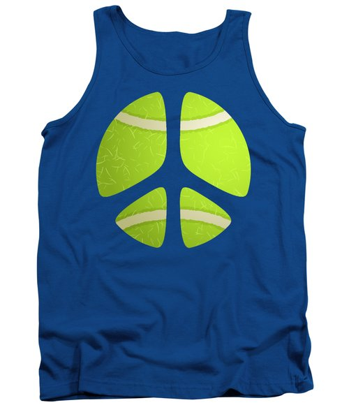 Tennis Ball Peace Sign Tank Top by David G Paul