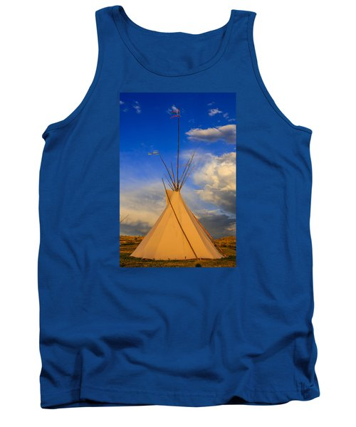 Tepee At Sunset In Montana Tank Top by Chris Smith