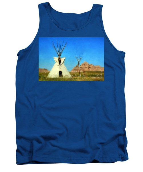 Tepee In Badlands Tank Top by Teresa Zieba