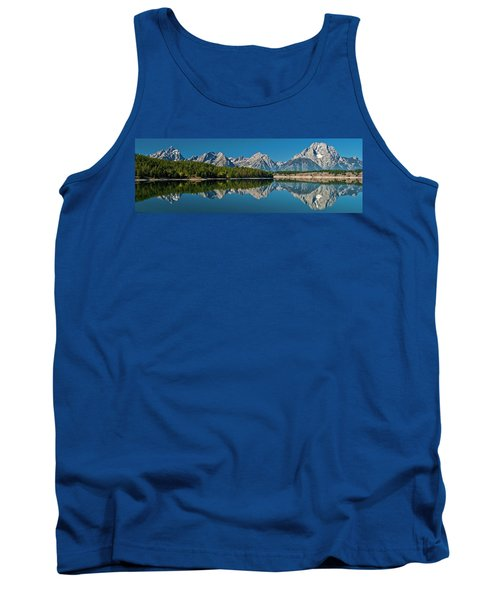 Tank Top featuring the photograph Teton Reflections by Gary Lengyel