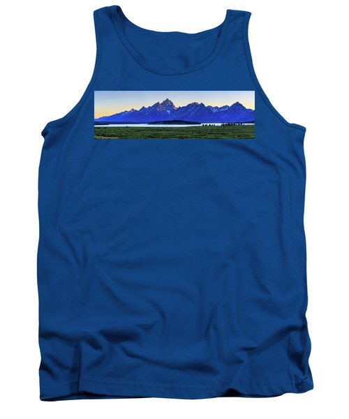 Tank Top featuring the photograph Teton Sunset by David Chandler