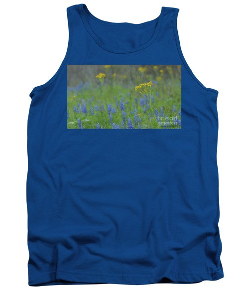 Texas Field With Blue Bonnets Tank Top