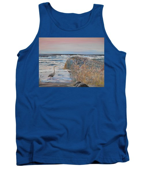 Texas - Padre Island Tank Top by Christine Lathrop