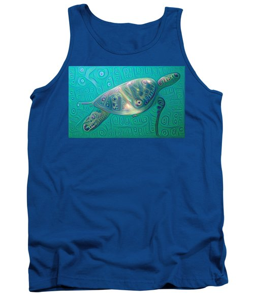 Tank Top featuring the painting Thaddeus The Turtle by Erika Swartzkopf