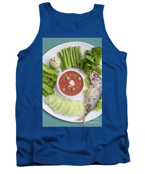 Tank Top featuring the photograph Thai Chili Paste by Atiketta Sangasaeng