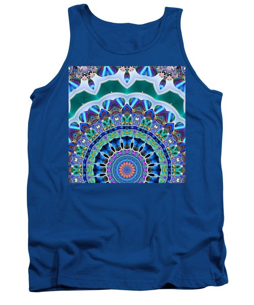 Tank Top featuring the digital art The Blue Collective 03b by Wendy J St Christopher
