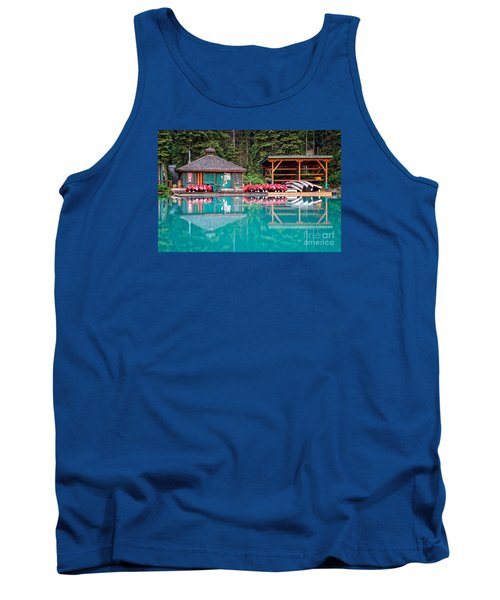 The Boat House At Emerald Lake In Yoho National Park Tank Top