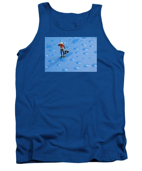 Tank Top featuring the photograph The Diver Among Water Drops Little People Big World by Paul Ge