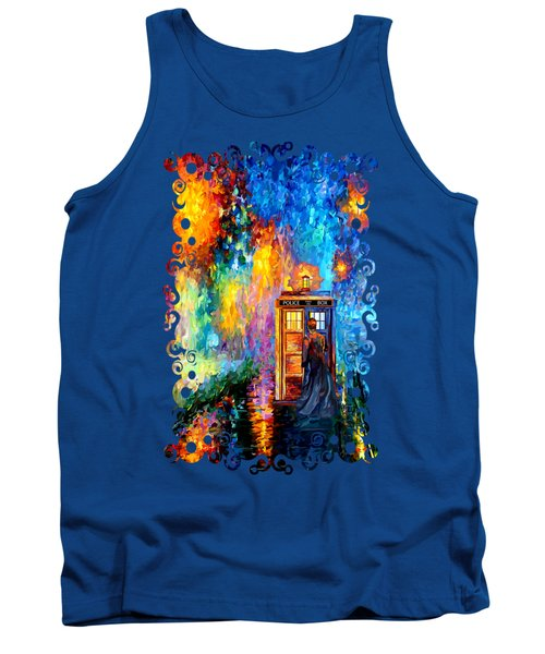 The Doctor Lost In Strange Town Tank Top by Three Second