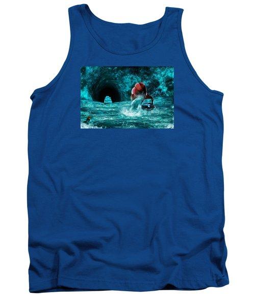 Tank Top featuring the digital art The Eternal Ballad Of The Sea by Olga Hamilton