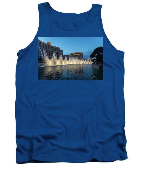 The Fabulous Fountains At Bellagio - Las Vegas Tank Top