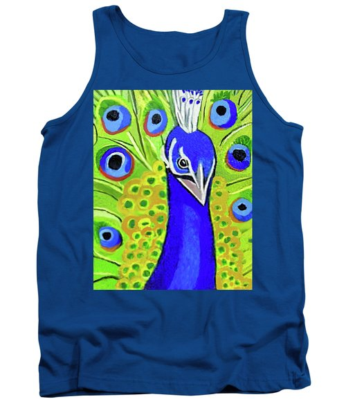 The Face Of A Peacock Tank Top