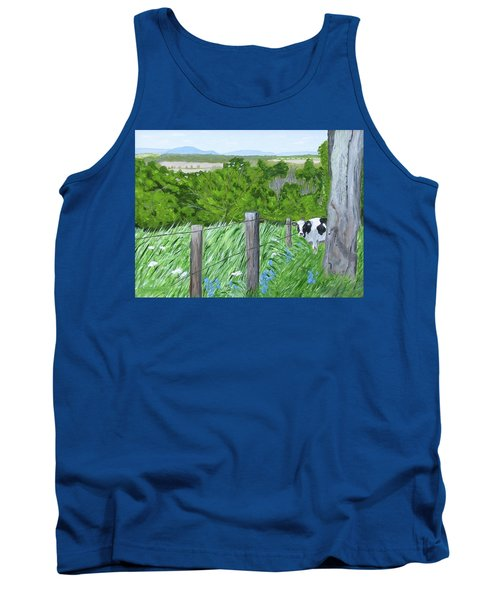 'the Grass Sings In The Meadow' Tank Top