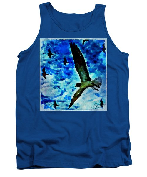 Tank Top featuring the painting The Great Seagull by Joan Reese