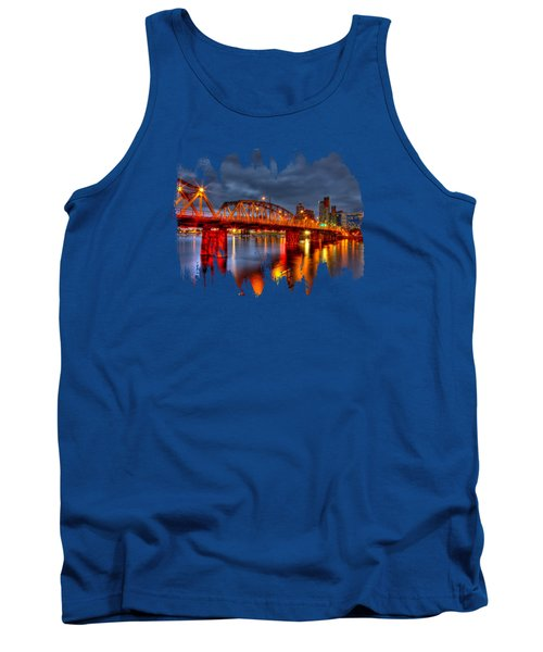 Tank Top featuring the photograph The Hawthorne Bridge - Pdx by Thom Zehrfeld